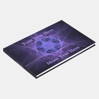 Purple Fractal Star Of David Guest Book