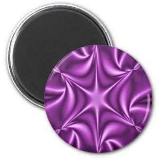 Purple Fractal Starflower Magnet