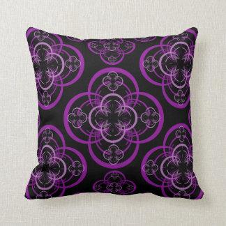 Purple Fractal Throw Pillow