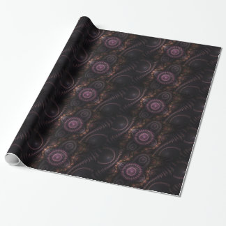 purple fractal wrapping paper