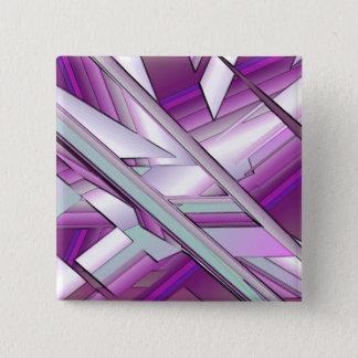 Purple Fracture 2 Inch Square Button