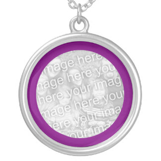 Purple Framed Photo Necklace