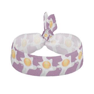 Purple fried eggs Hair Tie
