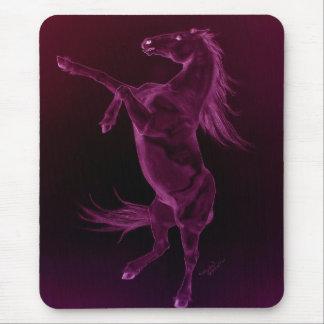 Purple Friesian Horse Mousepad