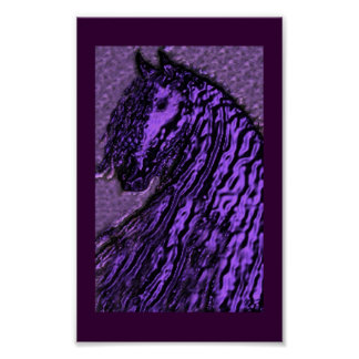 purple friesian print