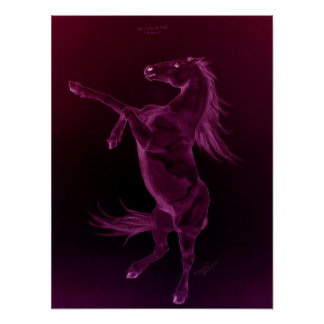 Purple Friesian Rearing Poster
