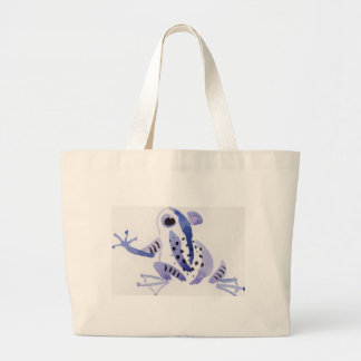 Purple Frog Large Tote Bag