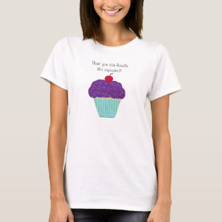 Purple Frosting Cupcake with Attitude Women' Shirt