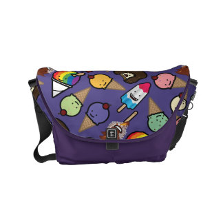 Purple Frosty Treat Messenger Bag