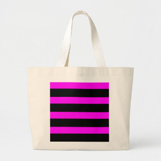 purple fuchsia and black bar Jumbo Tote