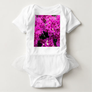 Purple Fuchsia Bougainvillea Background Baby Bodysuit