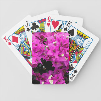 Purple Fuchsia Bougainvillea Background Bicycle Playing Cards