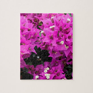 Purple Fuchsia Bougainvillea Background Jigsaw Puzzle