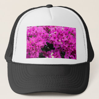 Purple Fuchsia Bougainvillea Background Trucker Hat