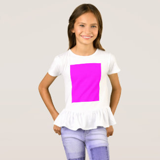 purple fuchsia Girls' Ruffle T-Shirt