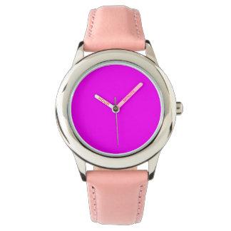 purple fuchsia  Stainless Steel Pink Watch