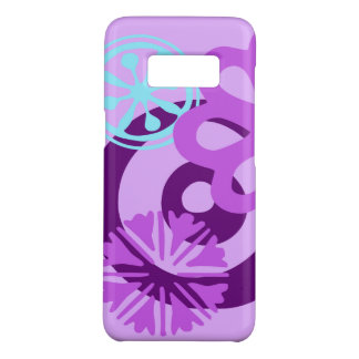 PURPLE FUNKY FLOWER DESIGN PHONE CASE