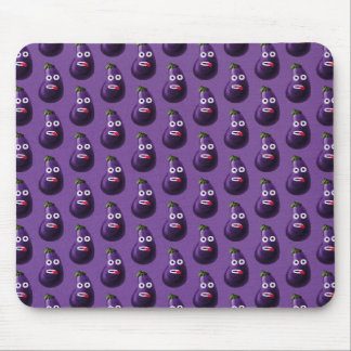 Purple Funny Cartoon Eggplant Pattern Mouse Pad