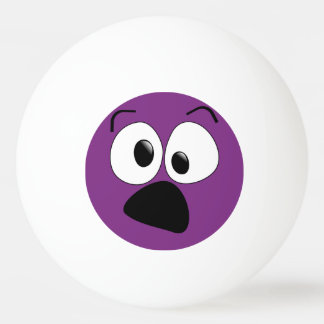 Purple Funny Silly Face Ping Pong Ball