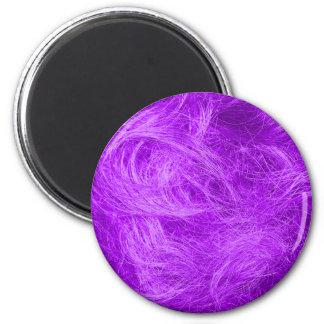 Purple Fur 2 Inch Round Magnet