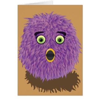 Purple Furry Monster Card