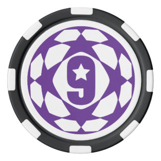 Purple Futbol poker chips