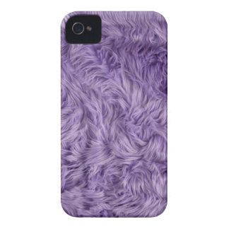 PURPLE FUZZY FUR Case-Mate iPhone 4 CASES