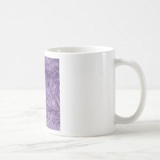 PURPLE FUZZY FUR COFFEE MUG