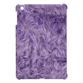 PURPLE FUZZY FUR iPad MINI COVER