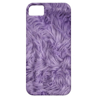 PURPLE FUZZY FUR iPhone 5 COVER