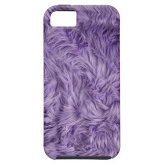 PURPLE FUZZY FUR iPhone 5 COVERS