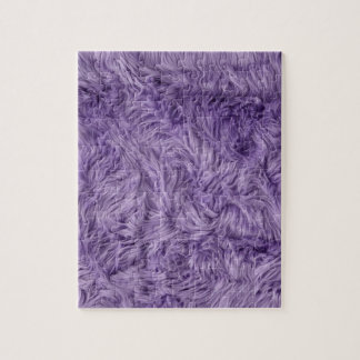 PURPLE FUZZY FUR JIGSAW PUZZLE