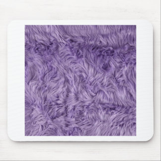 PURPLE FUZZY FUR MOUSE PAD