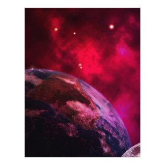 Purple galaxy 2 - purple galaxy letterhead