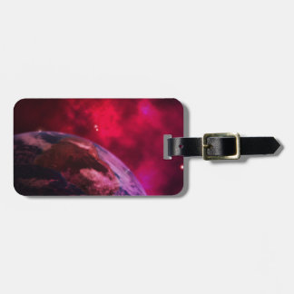 Purple galaxy 2 - purple galaxy luggage tag
