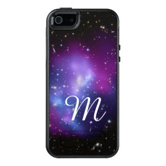 Purple Galaxy Cluster Monogram OtterBox iPhone 5/5s/SE Case