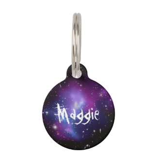 Purple Galaxy Cluster Pet Name Tag