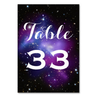Purple Galaxy Cluster Planetarium Wedding Table Cards