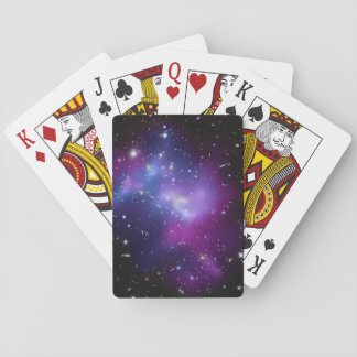 Purple Galaxy Cluster Poker Deck