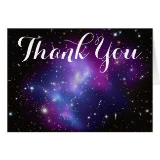 Purple Galaxy Cluster Thank You Card
