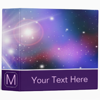 Purple Galaxy. Custom Monogram 2 Vinyl Binder