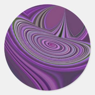 Purple Galaxy Design Classic Round Sticker