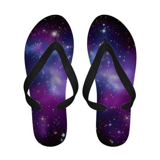 Purple Galaxy Sandals
