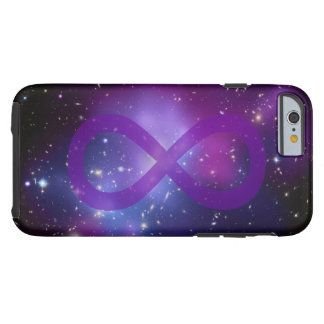 Purple Galaxy Infinity Symbol Tough iPhone 6 Case