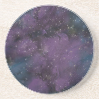 Purple Galaxy Nebula Coaster