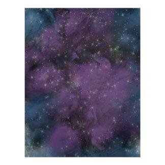 Purple Galaxy Nebula Letterhead