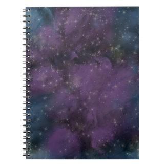 Purple Galaxy Nebula Notebook