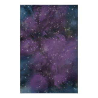 Purple Galaxy Nebula Stationery