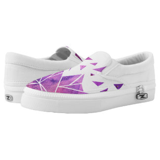 Purple Galaxy Slip On Shoes