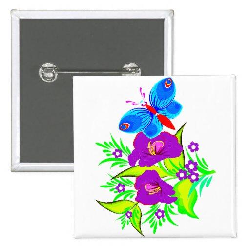 Purple Garden Butterfly Pin